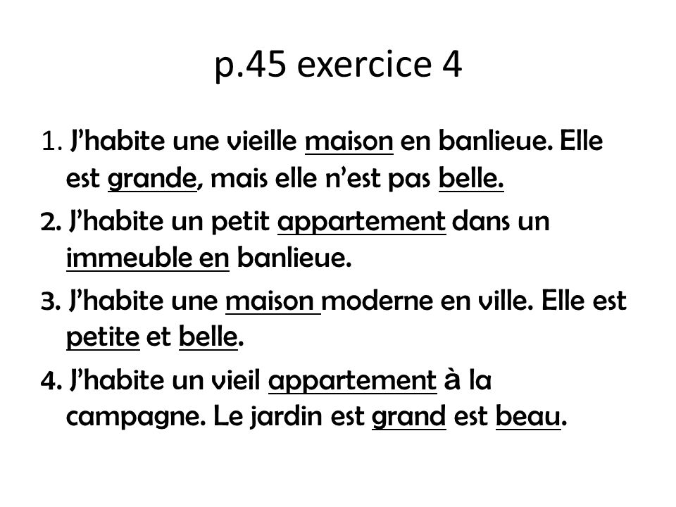 p.45 exercice 4
