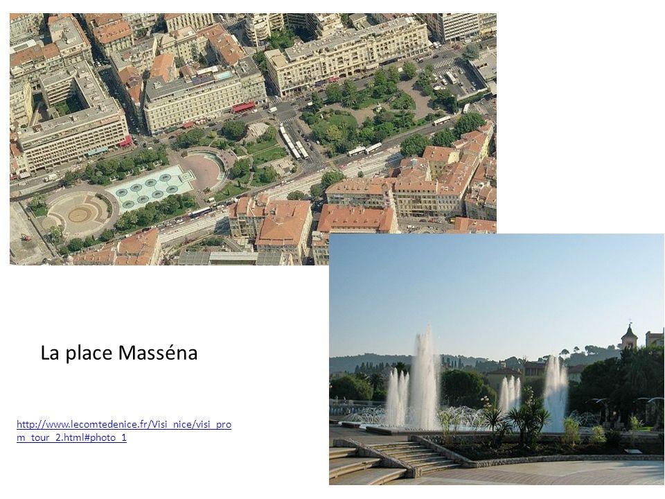 La place Masséna http://www.lecomtedenice.fr/Visi_nice/visi_prom_tour_2.html#photo_1