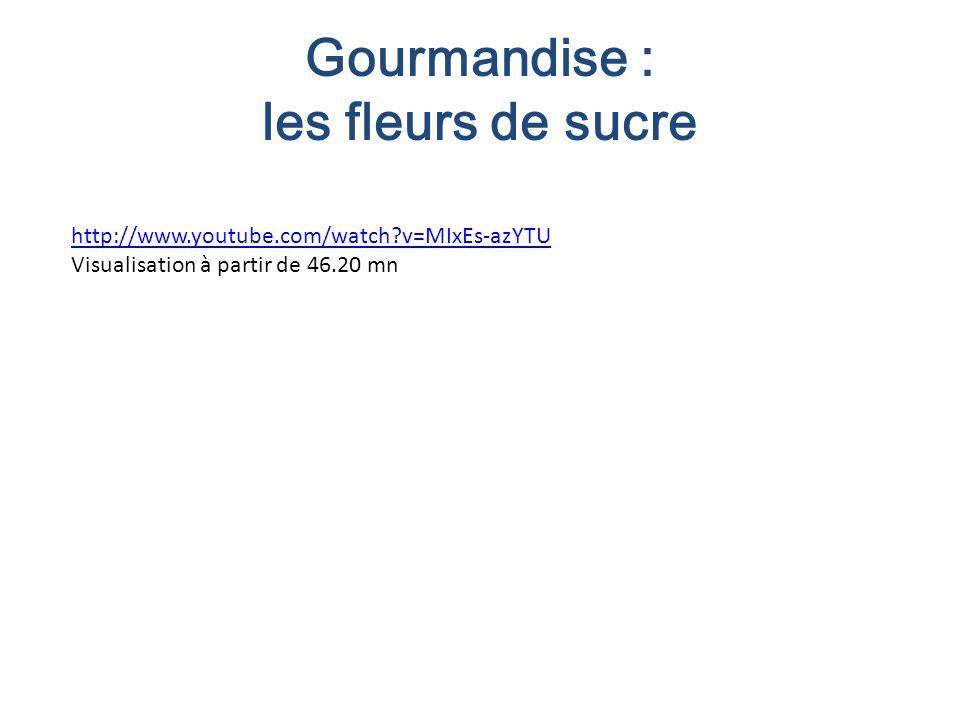 Gourmandise : les fleurs de sucre