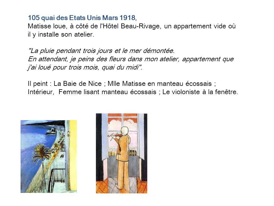 105 quai des Etats Unis Mars 1918,