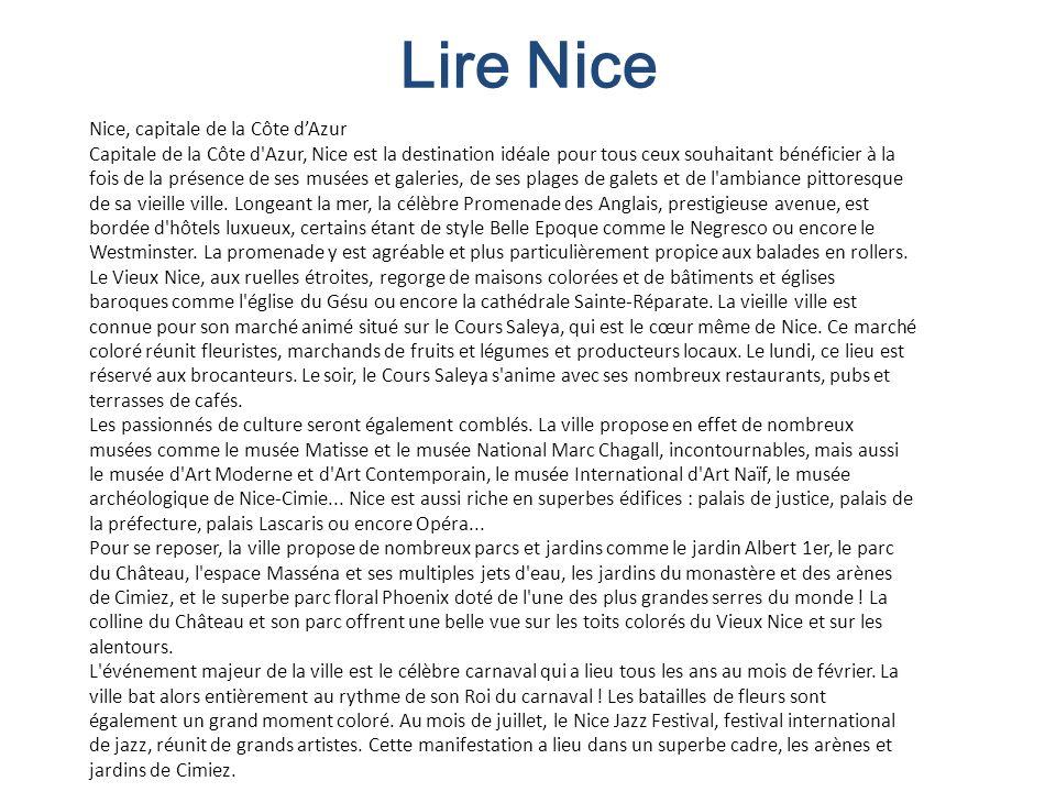 Lire Nice Nice, capitale de la Côte d'Azur
