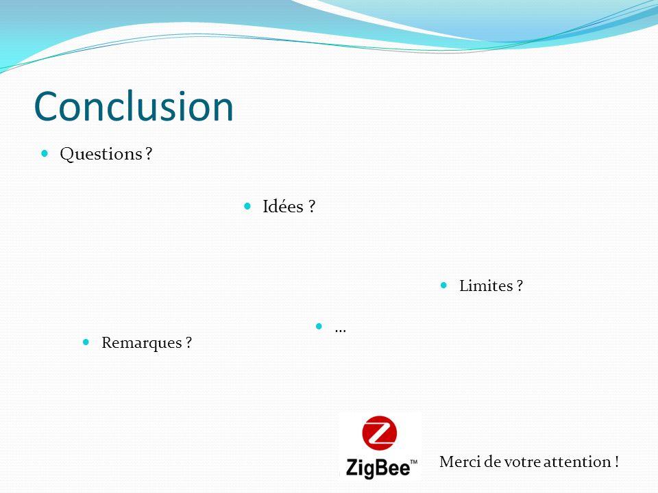 Conclusion Questions Idées Limites … Remarques