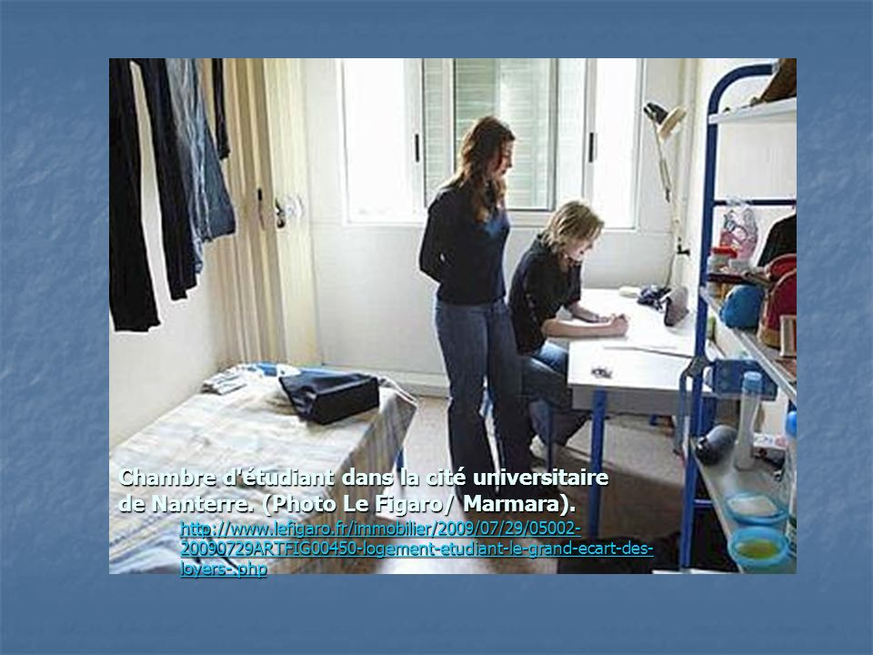 Chambre d étudiant dans la cité universitaire de Nanterre