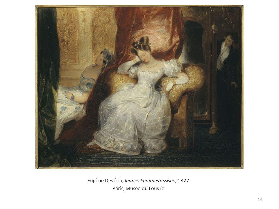 Eugène Devéria, Jeunes Femmes assises, 1827