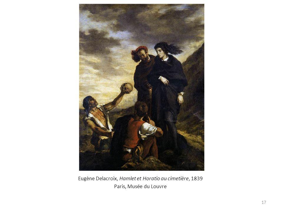 Eugène Delacroix, Hamlet et Horatio au cimetière, 1839