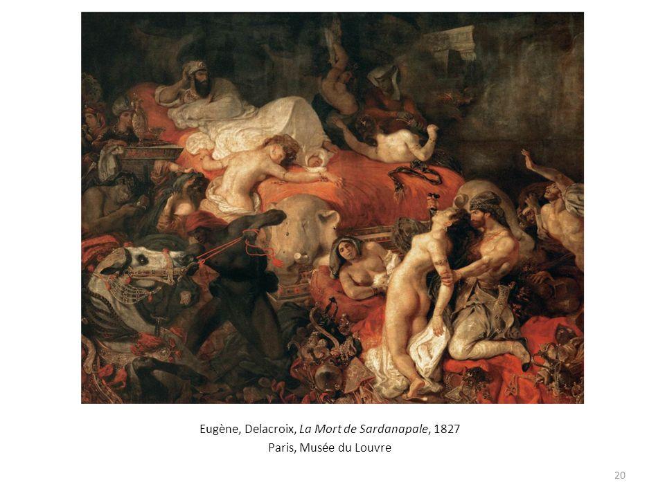 Eugène, Delacroix, La Mort de Sardanapale, 1827
