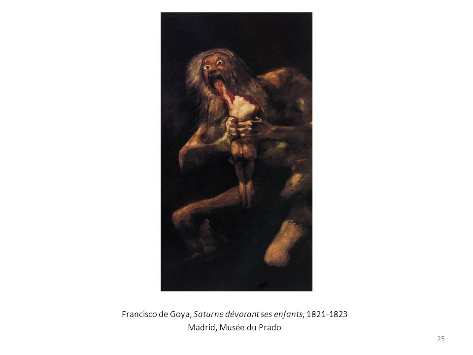 Francisco de Goya, Saturne dévorant ses enfants, 1821-1823