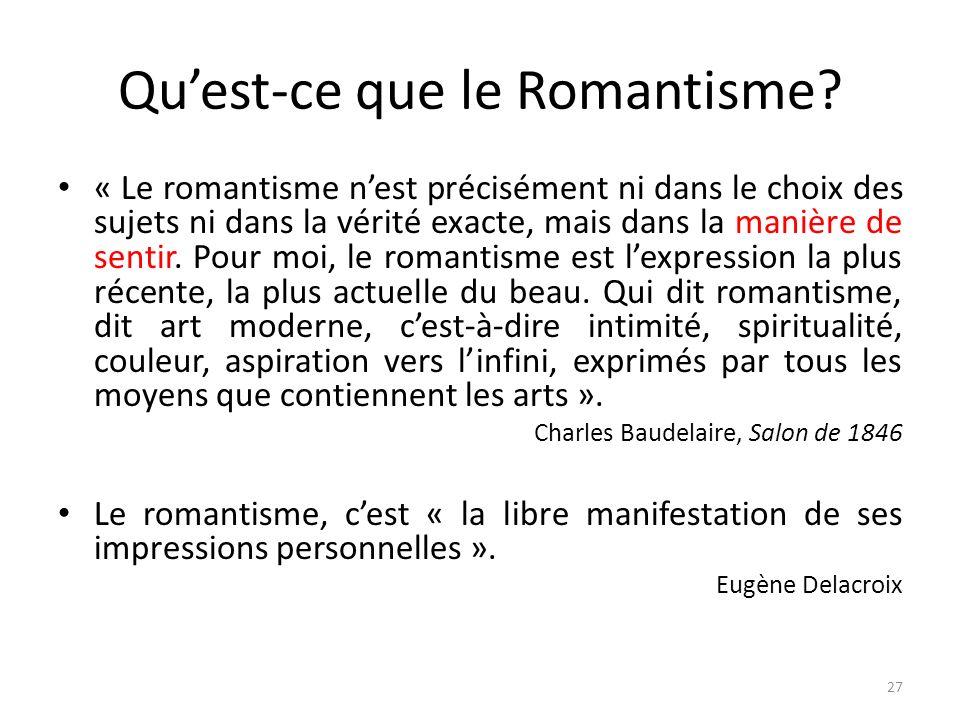 Qu'est-ce que le Romantisme