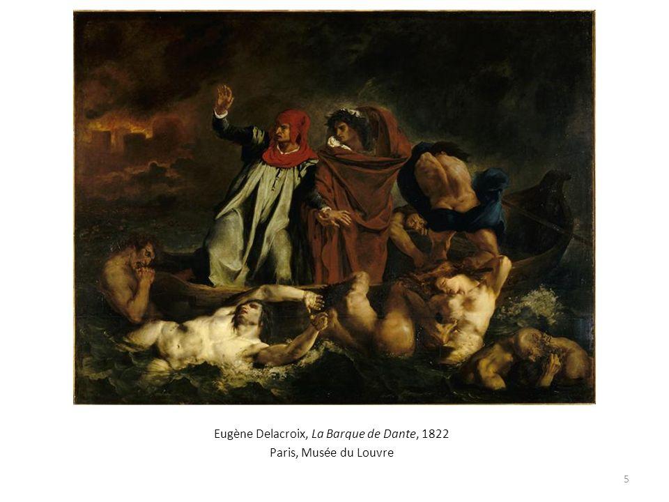 Eugène Delacroix, La Barque de Dante, 1822