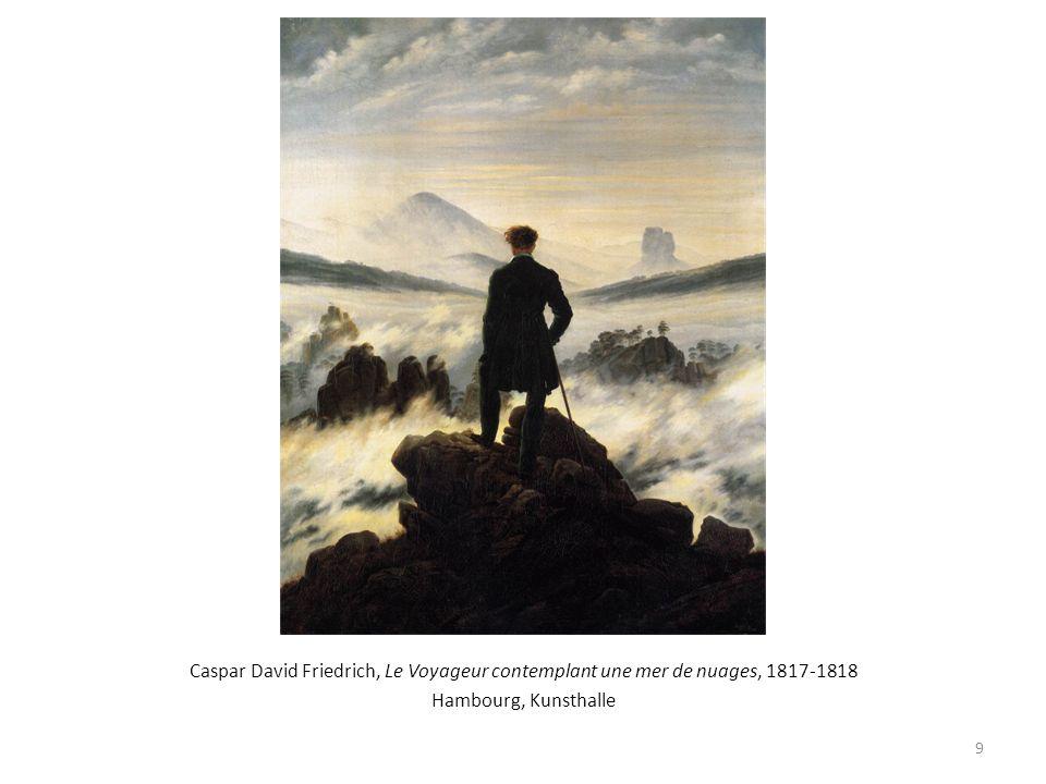 Caspar David Friedrich, Le Voyageur contemplant une mer de nuages, 1817-1818