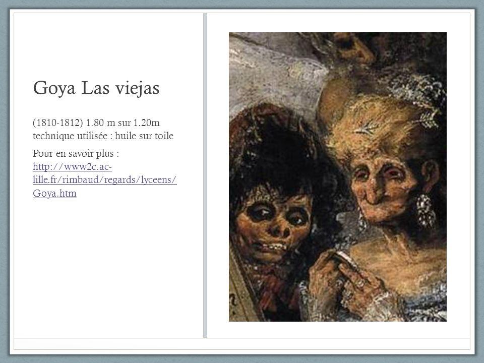 Goya Las viejas (1810-1812) 1.80 m sur 1.20m technique utilisée : huile sur toile.