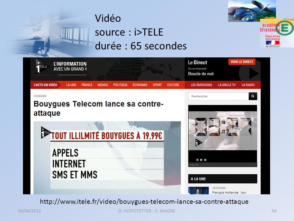 Vidéo source : i>TELE durée : 65 secondes