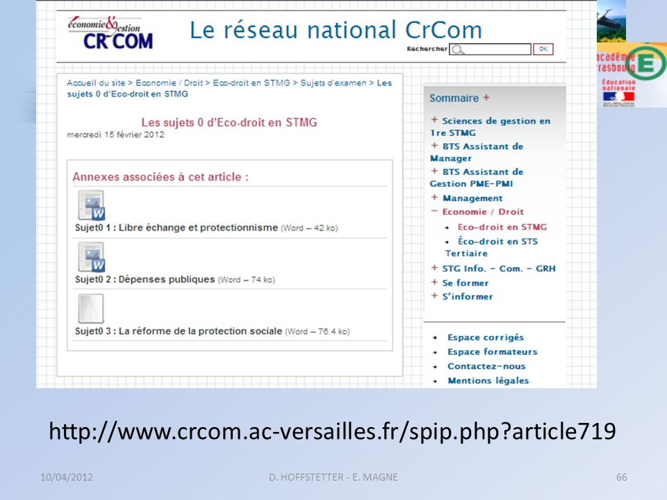 http://www.crcom.ac-versailles.fr/spip.php article719 10/04/2012