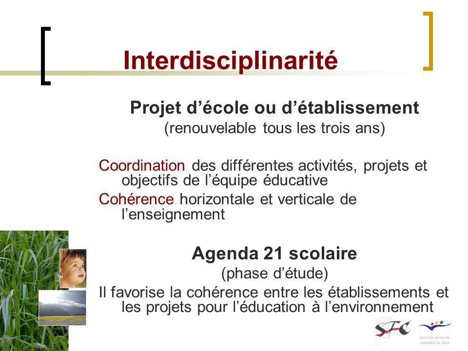 Projet d'école ou d'établissement