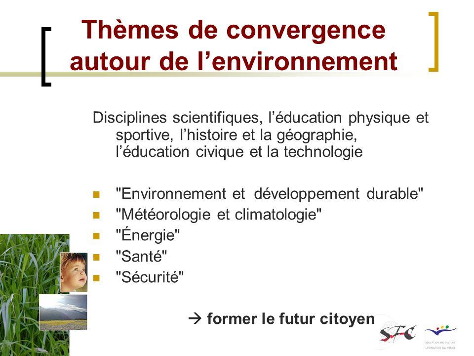 Thèmes de convergence autour de l'environnement