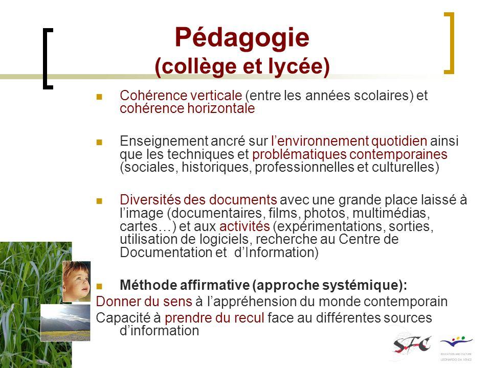 Pédagogie (collège et lycée)
