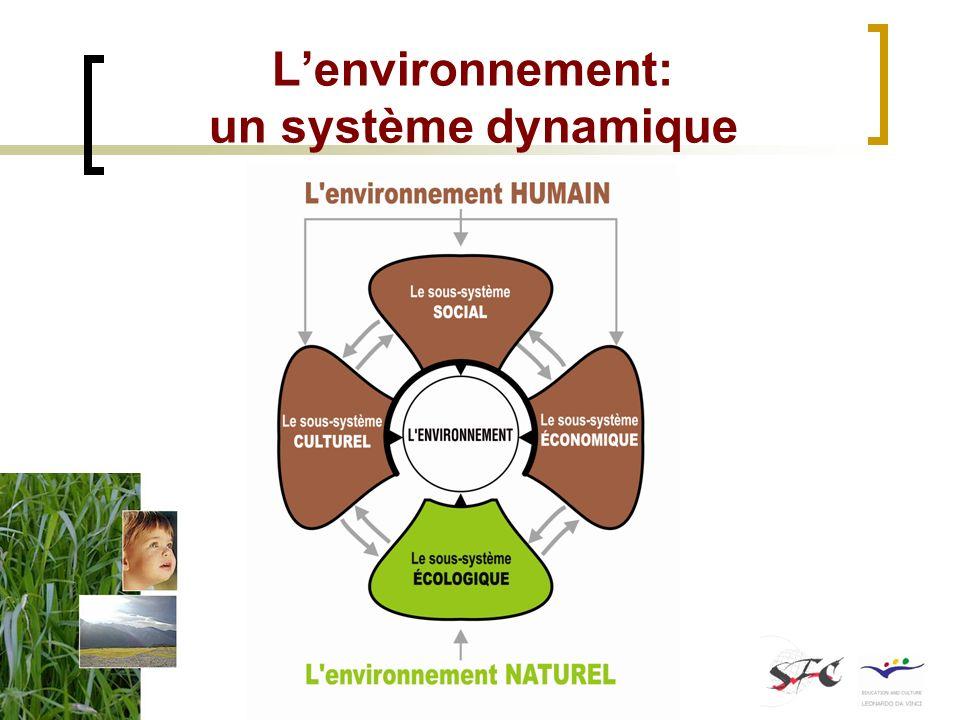 L'environnement: un système dynamique