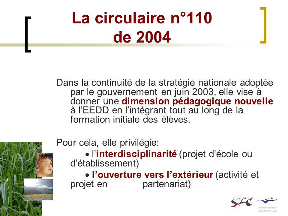 La circulaire n°110 de 2004