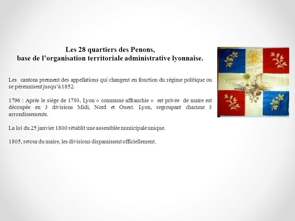 Les 28 quartiers des Penons,