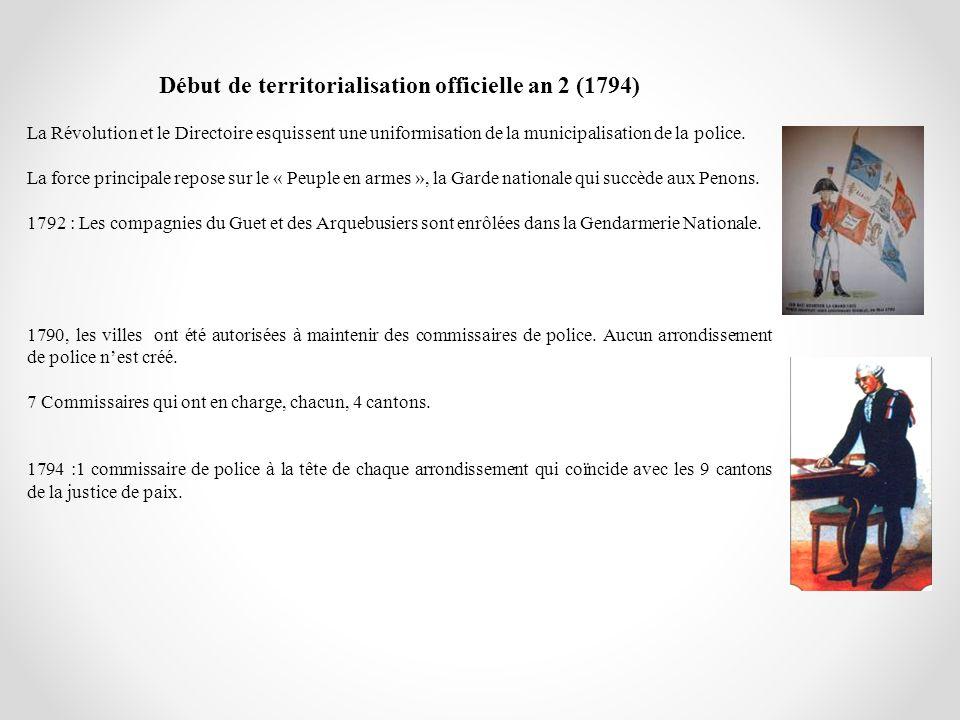 Début de territorialisation officielle an 2 (1794)