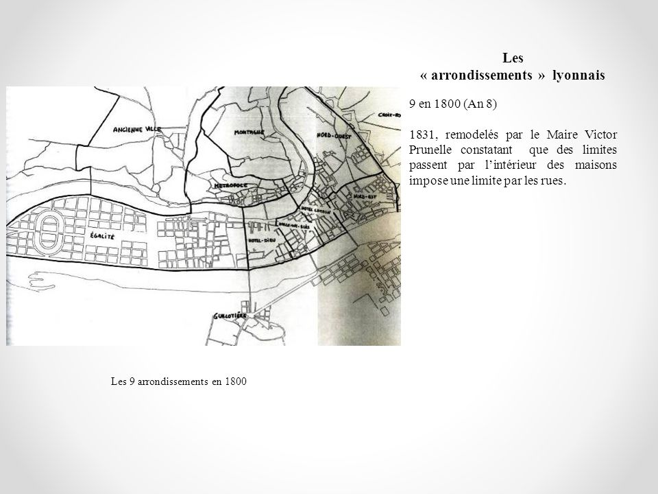 Les « arrondissements » lyonnais