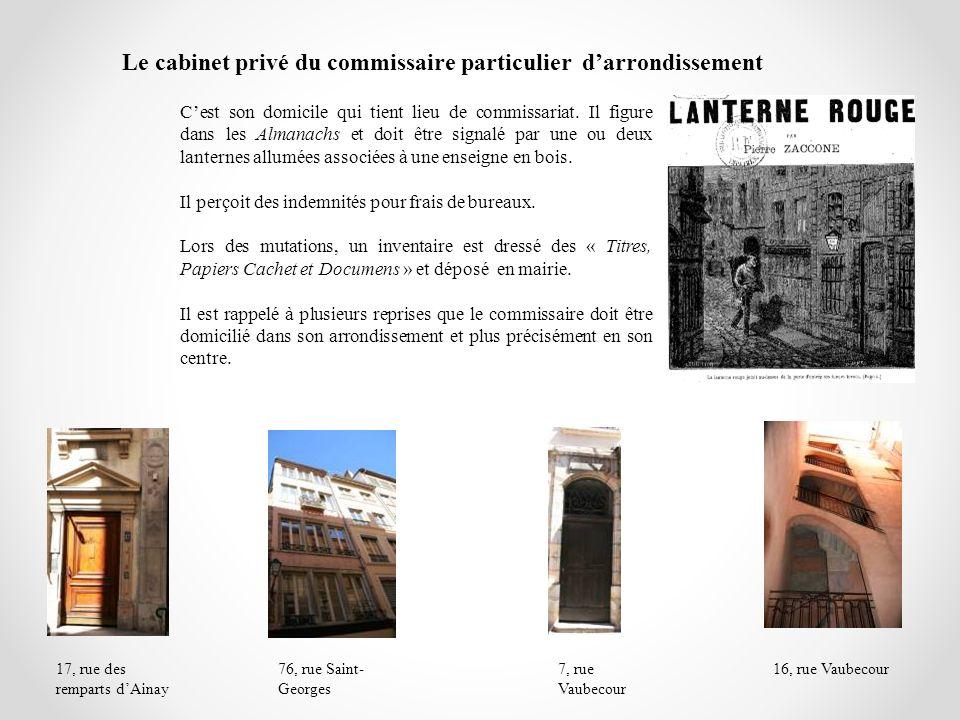 Le cabinet privé du commissaire particulier d'arrondissement