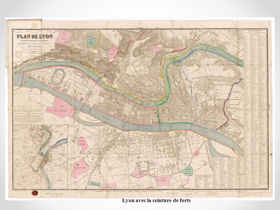 Lyon avec la ceinture de forts