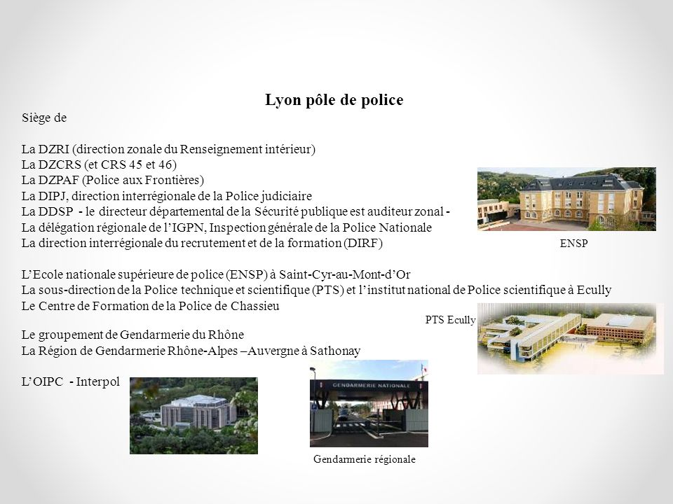 Lyon pôle de police Siège de