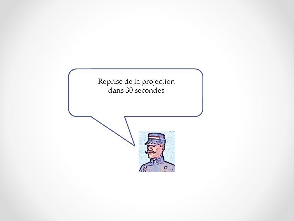 Reprise de la projection