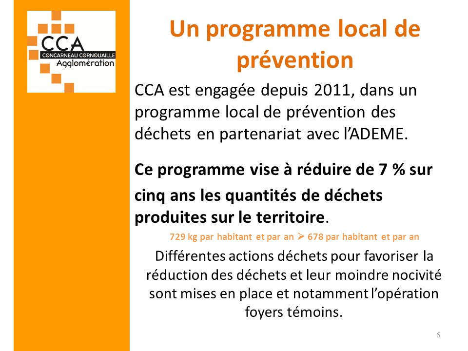 Un programme local de prévention