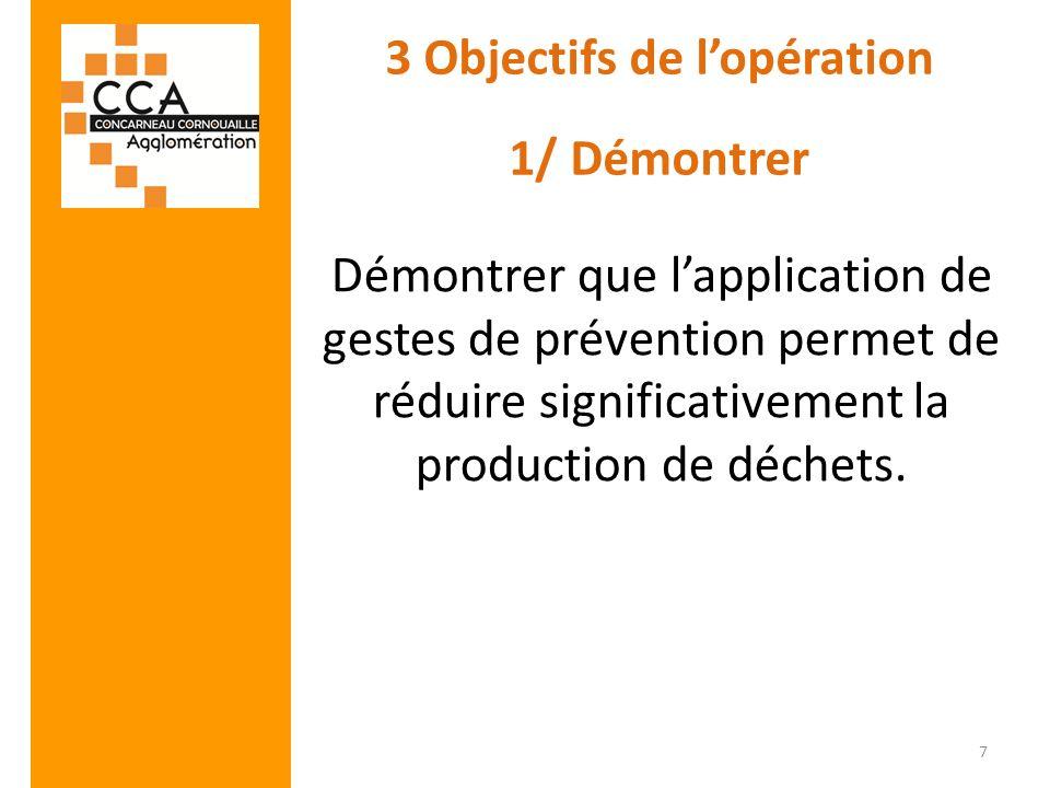 3 Objectifs de l'opération 1/ Démontrer
