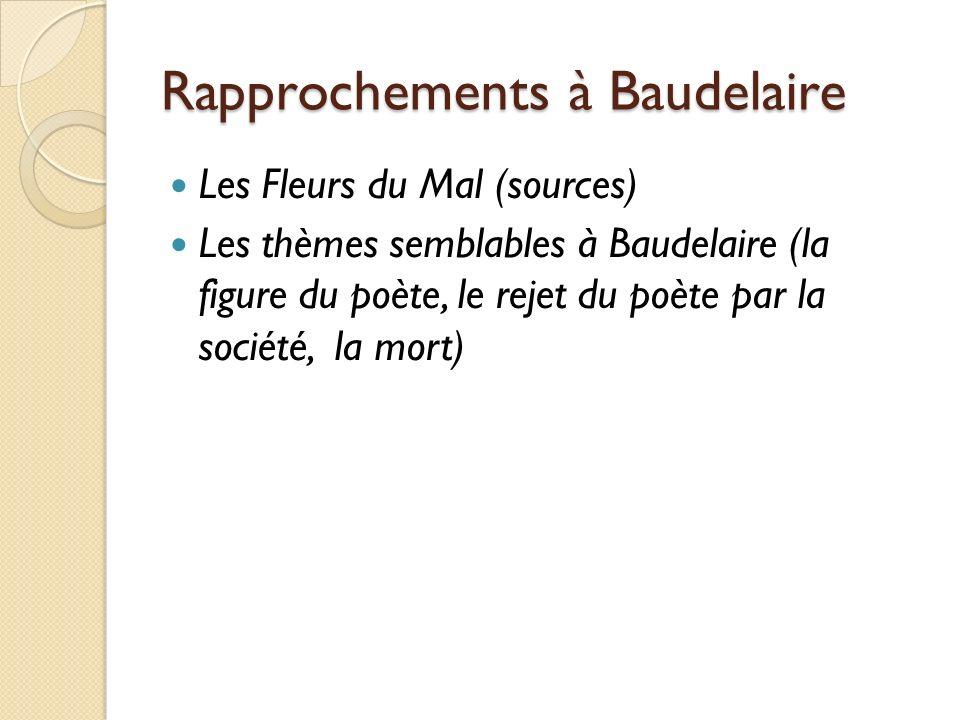 Rapprochements à Baudelaire