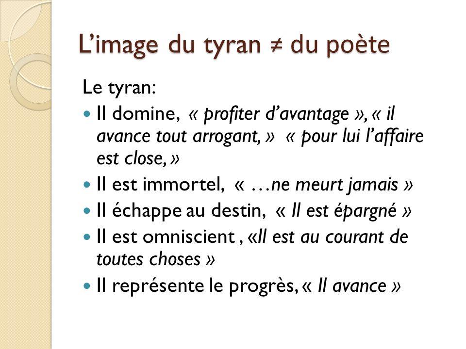 L'image du tyran ≠ du poète