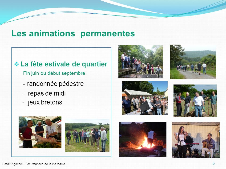 Les animations permanentes