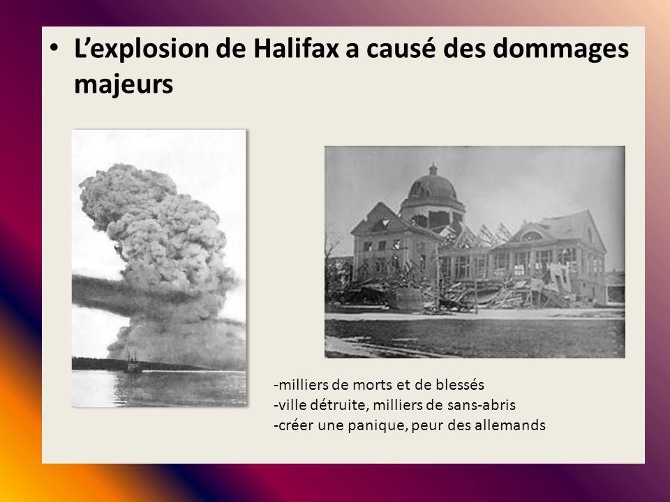 L'explosion de Halifax a causé des dommages majeurs