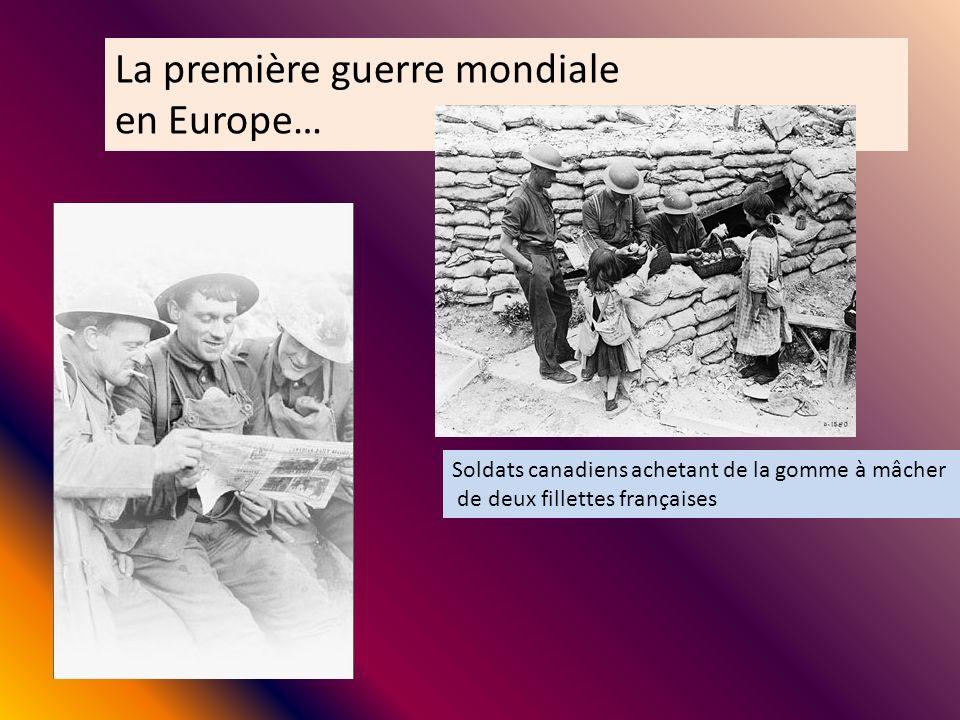 La première guerre mondiale en Europe…