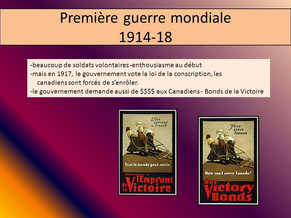 Première guerre mondiale 1914-18