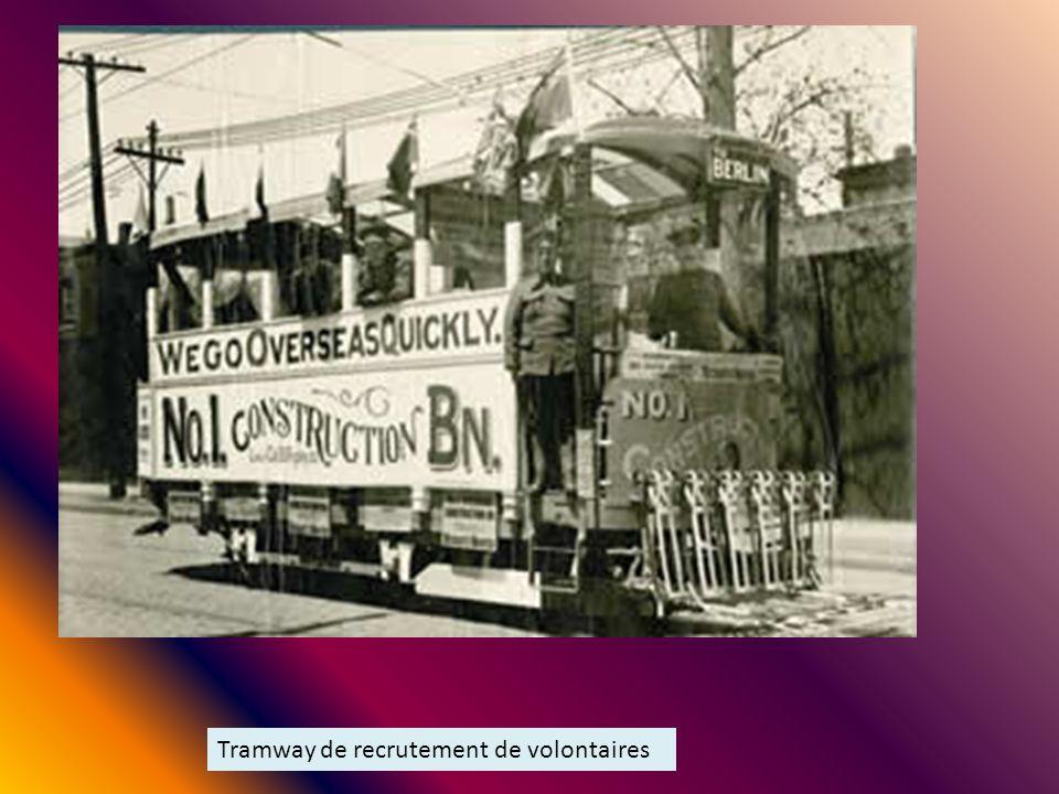 Tramway de recrutement de volontaires