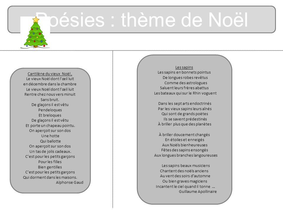 Poésies : thème de Noël Les sapins Les sapins en bonnets pointus