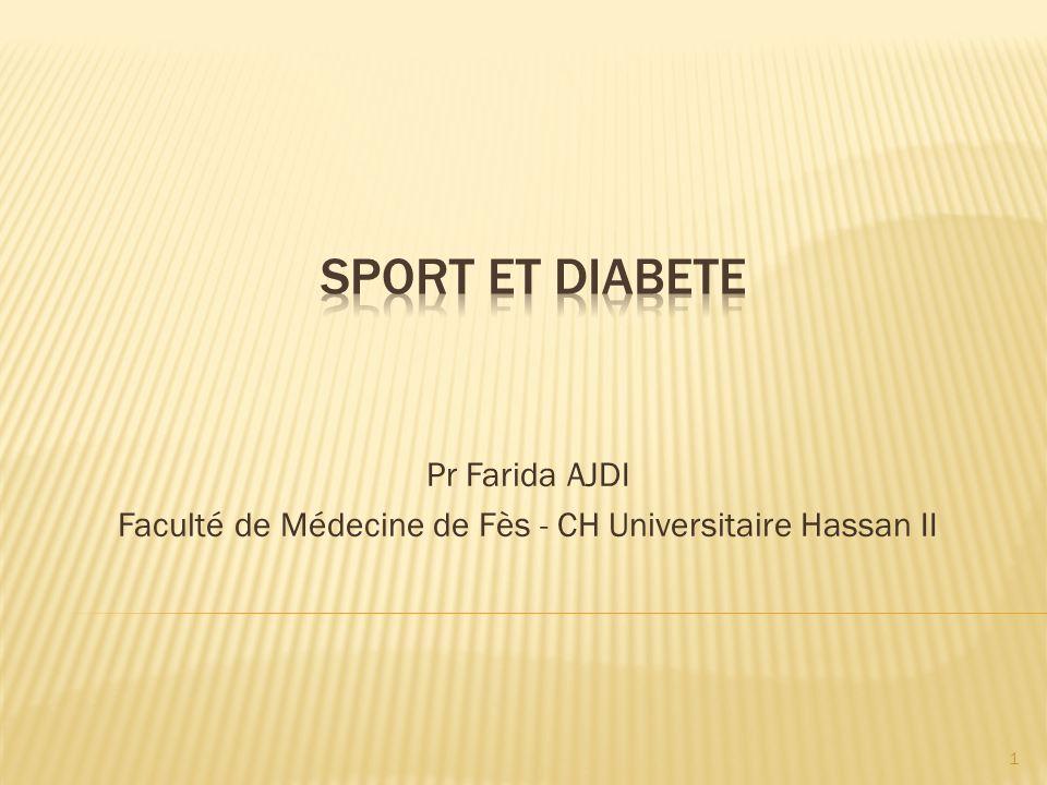 Pr Farida AJDI Faculté de Médecine de Fès - CH Universitaire Hassan II