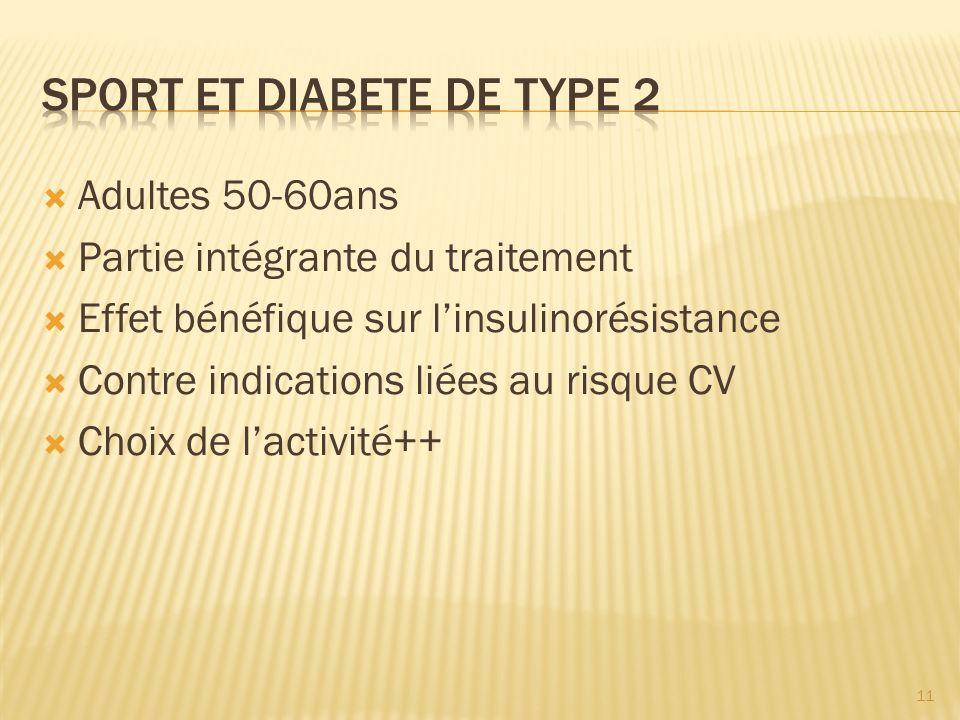 Sport et diabete de type 2