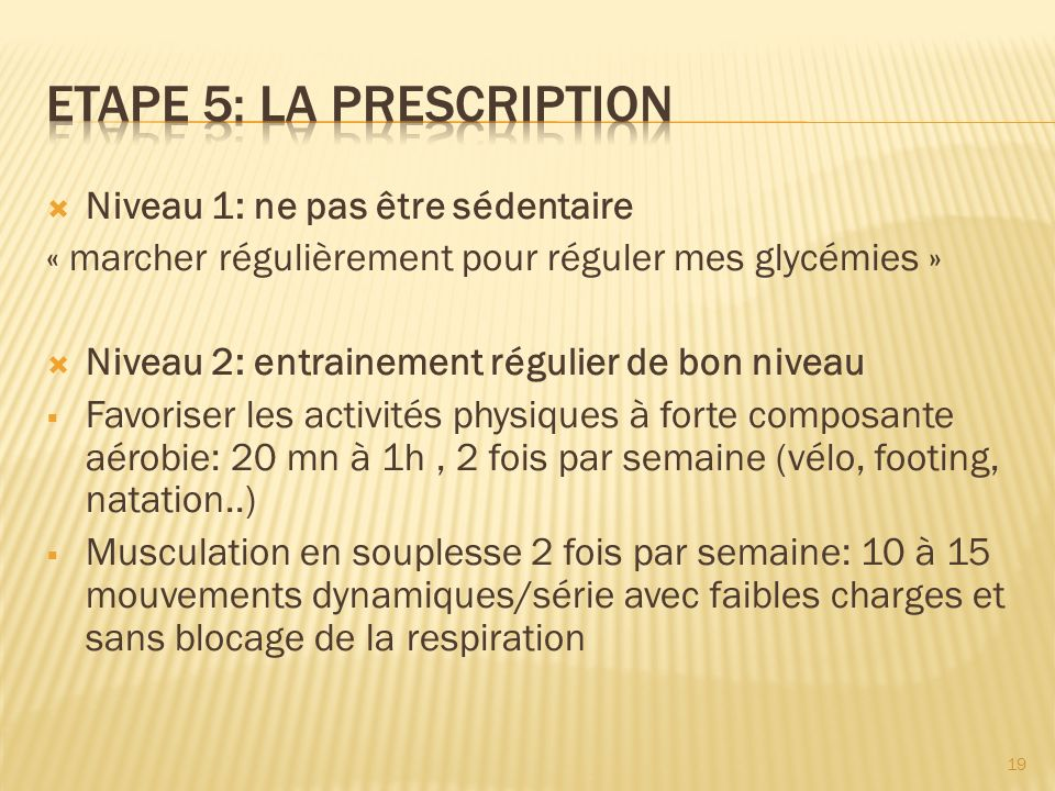 Etape 5: LA PRESCRIPTION