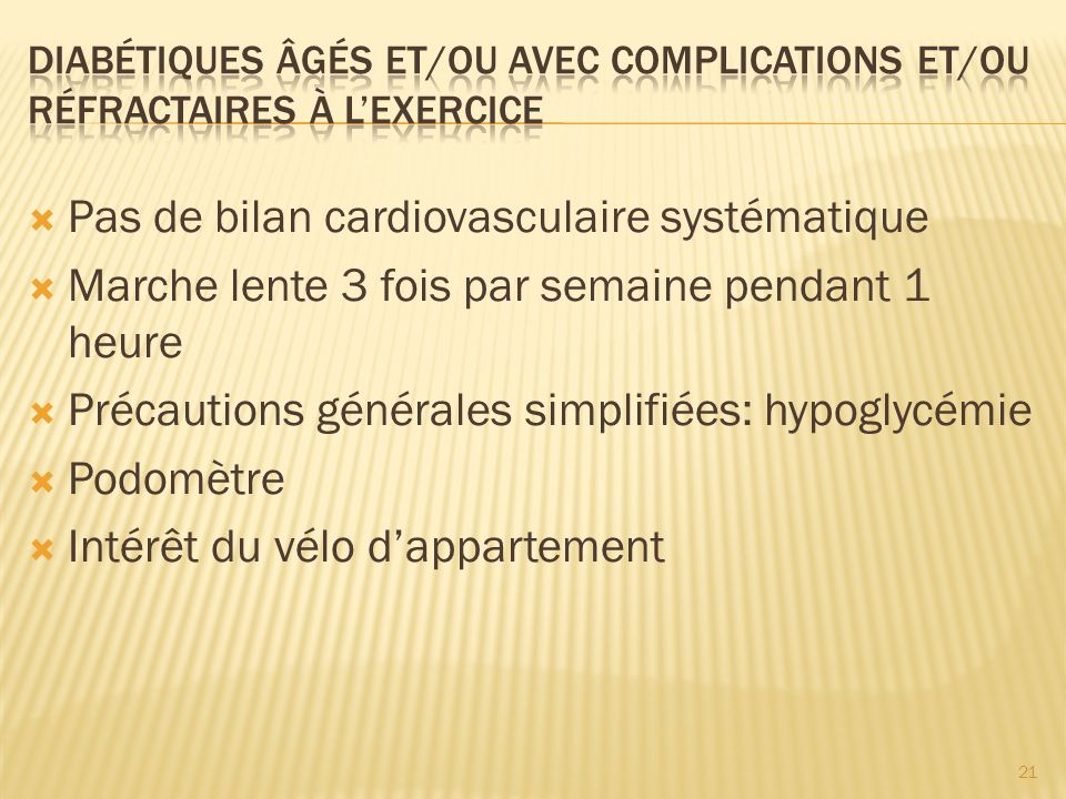 Pas de bilan cardiovasculaire systématique