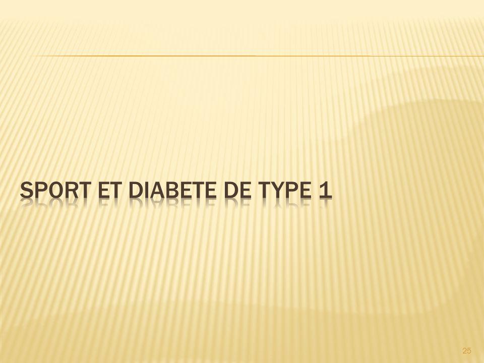 SPORT ET DIABETE DE TYPE 1