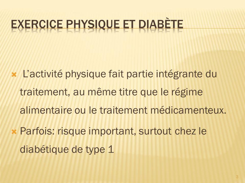 Exercice physique et diabète