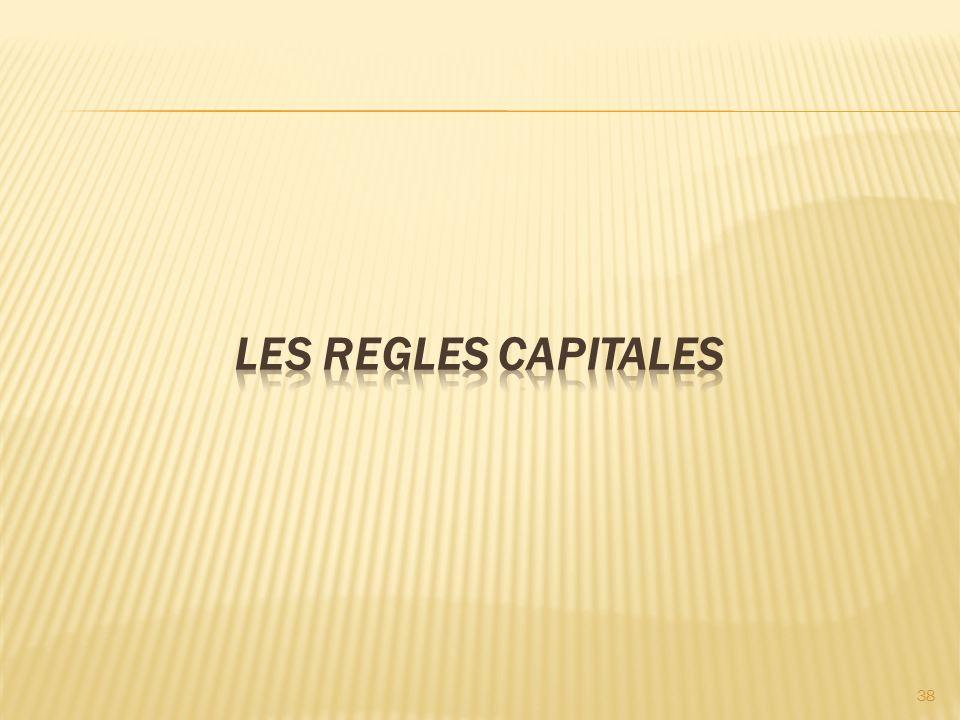 LES REGLES CAPITALES