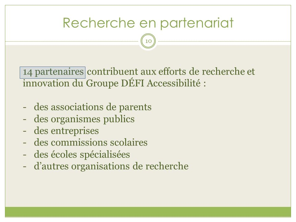 Recherche en partenariat