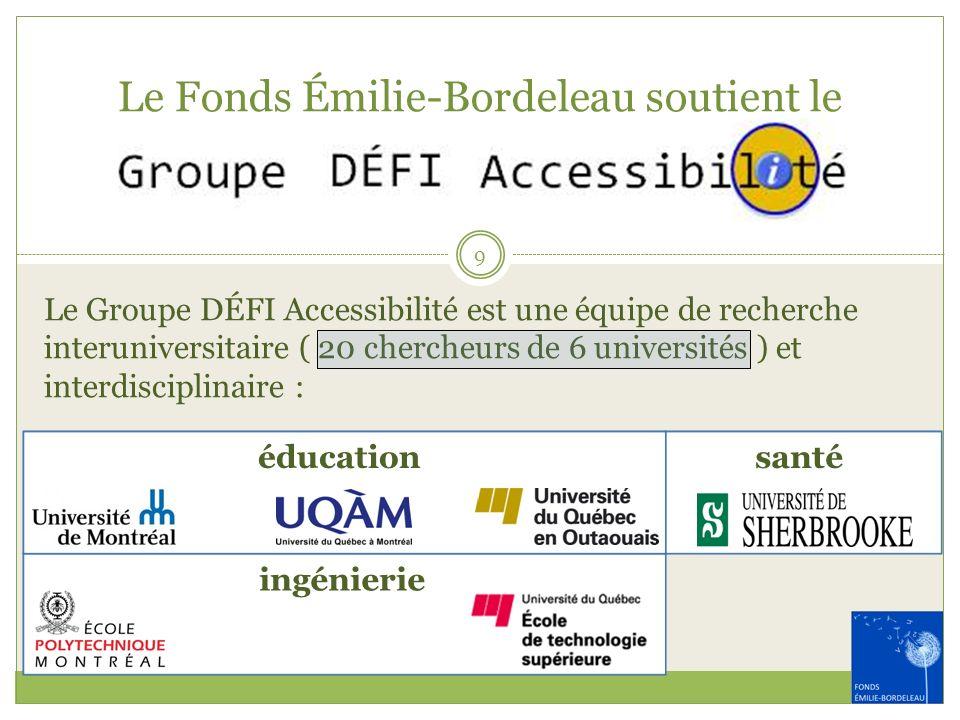 Le Fonds Émilie-Bordeleau soutient le