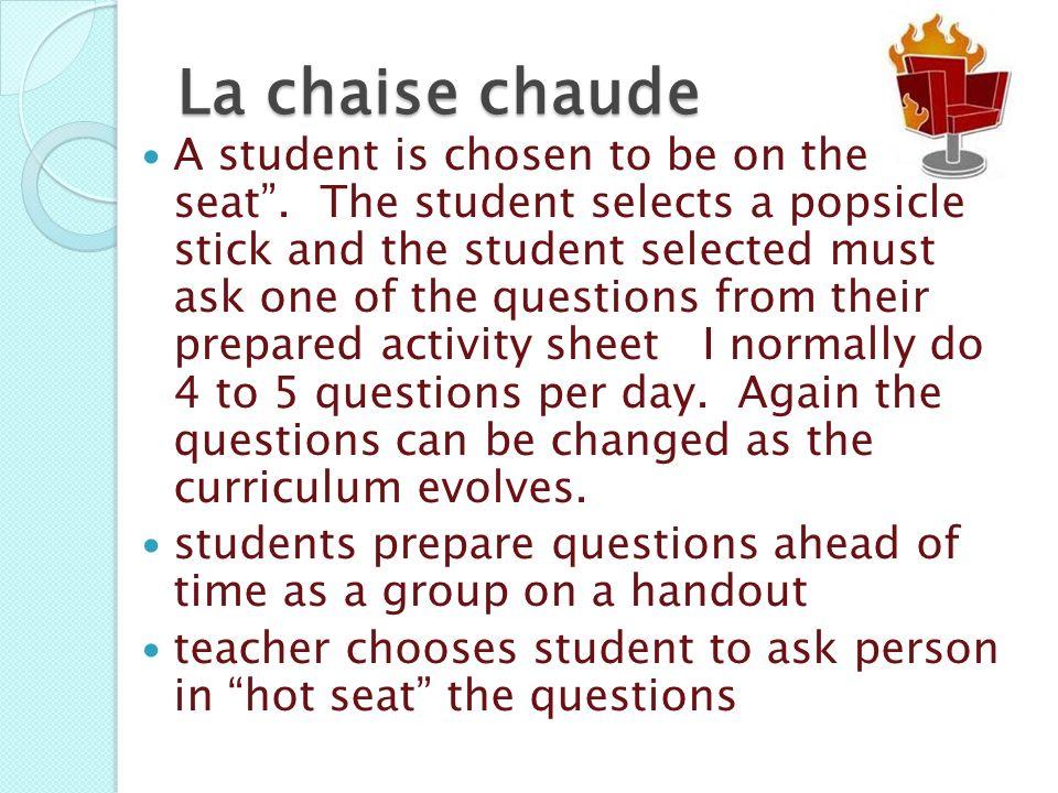 La chaise chaude