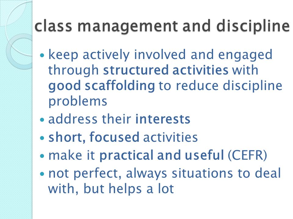 class management and discipline